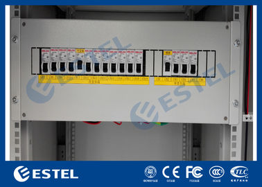Rack Mount PDU Power Distribution Unit For Thermostatic Roadside Cabinets Surge Protection