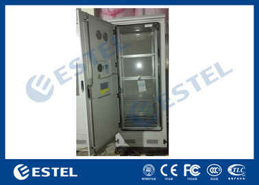 Custom 4 Shelves Outdoor Battery Cabinet Galvanized Steel 5% - 100% Relative Humidity