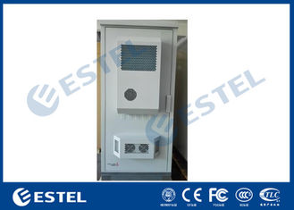 Two Battery Shelf Outdoor Power Supply Cabinet One Front Door With Two Air Conditioner