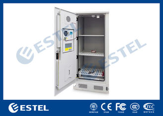 Stainless Steel Outdoor Battery Cabinet Temperature Control 3 Layer Battery For Telecom Station