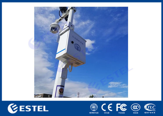 Pole Mounted Wall Installed IP55 Traffic Control Enclosure  With Back Plate And Din Rail